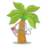 Cupid palm tree character cartoon Stock Images