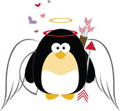 Cupid Penguin Royalty Free Stock Photos