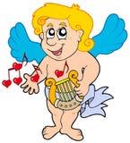 Cupid playing harp Stock Image
