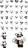 Cupid plush little panda bear cartoon expressions set Stock Photography