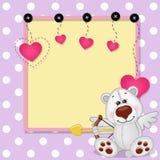 Cupid Polar Bear with frame Royalty Free Stock Photo