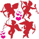 Cupid postures Royalty Free Stock Image