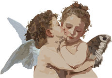 Cupid and Psyche as children Royalty Free Stock Photography