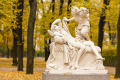Cupid and Psyche. A copy of the sculptural group of 'Cupid and Psyche' in the Summer Garden St. Petersburg sculptor Giulio Kartar royalty free stock images