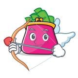 Cupid purse character cartoon style. Vector illustration Stock Photography