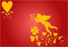 Cupid que toma puntería stock de ilustración