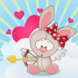 Cupid Rabbit Royalty Free Stock Images