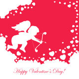 Cupid on red background Stock Image