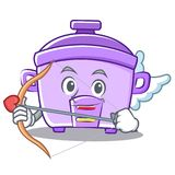 Cupid rice cooker character cartoon Royalty Free Stock Photos