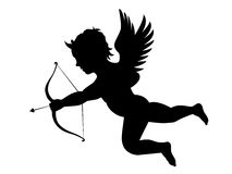 Cupids arrow. Illustration of cupid with bow and arrow Royalty Free Stock Photo