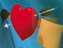 Cupid's Arrow Stock Images