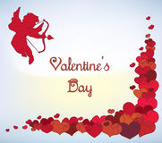 Cupid's card Royalty Free Stock Images