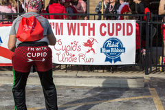 Cupid's Undie Run participants Stock Photography