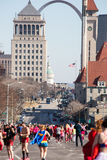 Cupid's Undie Run St. Louis Royalty Free Stock Photo