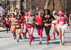 Cupid's Undie Run Washington DC Royalty Free Stock Images