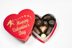 Cupid`s Valentine Candies Royalty Free Stock Photo
