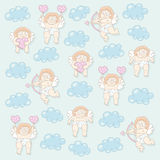 Cupid seamless pattern Royalty Free Stock Images