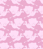 Cupid seamless pattern. Romantic background of little angels.  Royalty Free Stock Photo