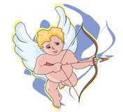 Cupid searching prey Royalty Free Stock Image