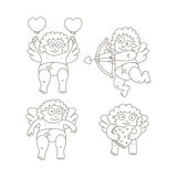 Cupid set Stock Images