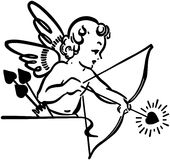 Cupid Shooting Arrow Stock Images