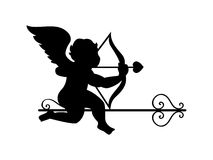 Cupid silhouette Royalty Free Stock Images