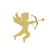 Cupid silhouette Stock Photos