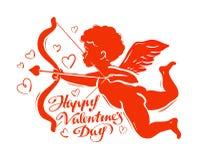 Cupid silhouette vector illustration Stock Photo