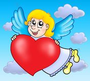 Cupid on sky Stock Images