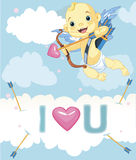 Cupid in the sky Stock Image