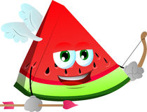 Cupid slice of watermelon Stock Photography