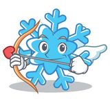 Cupid Snowflake Character Cartoon Style Royalty Free Stock Photography