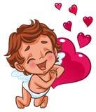 cupid som ler lyckligt Arkivfoton