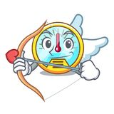 Cupid speedometer in the a cartoon shape royalty free illustration