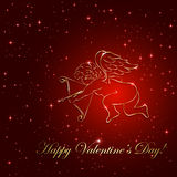 Cupid on star background Royalty Free Stock Images