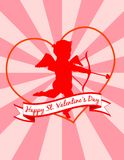 Cupid on Starburst Background! Vector eps 8 Stock Photography