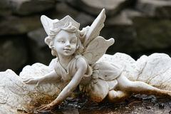 Cupid statue. Picture of the cupid statue in a garden royalty free stock images