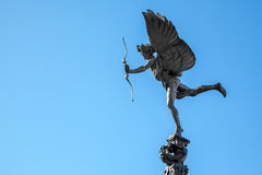 Cupid statue. Eros Cupid statue of Piccadilly Circus, London England UK royalty free stock photos