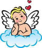 Cupid su una nube Immagine Stock
