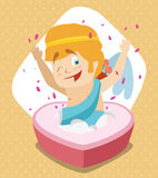 Cupid Surprise! Vector Illustration Stock Photo