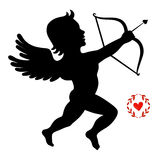 Cupid takes aim Royalty Free Stock Photo