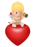 Cupid with telescope Stock Photos