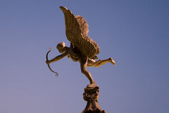 Cupid. On top of fountain royalty free stock photo