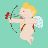 Cupid Triple shot Stock Photo