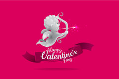 Cupid valentine design. suitable use for logo wedding and others Royalty Free Stock Images