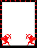 Cupid valentine's day background/ border Stock Photography