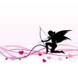 Cupid - Valentine's Day banner Royalty Free Stock Images