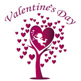 Cupid in valentines day Royalty Free Stock Image