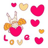 Cupid for Valentine's Day Stock Photos