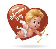 Cupid on Valentine�s Day Stock Photography